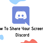 discord screen share in server