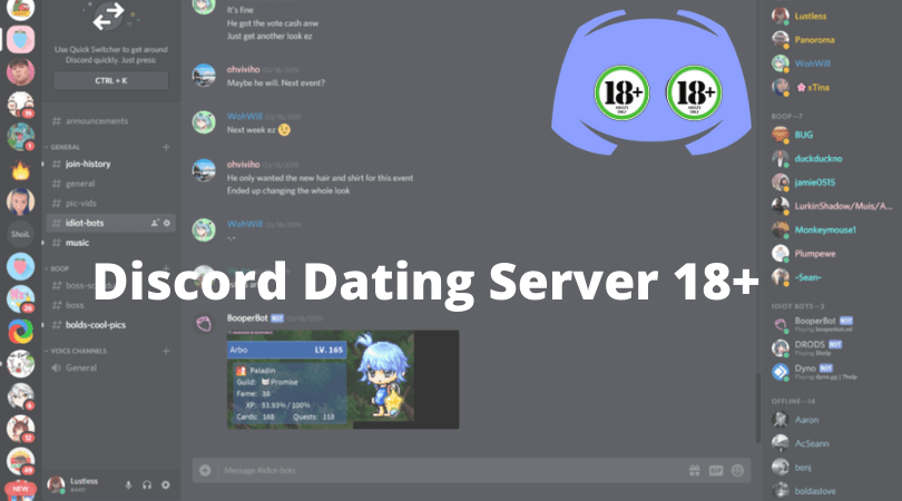 dating servers discord