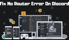 Fix No Router Error On Discord