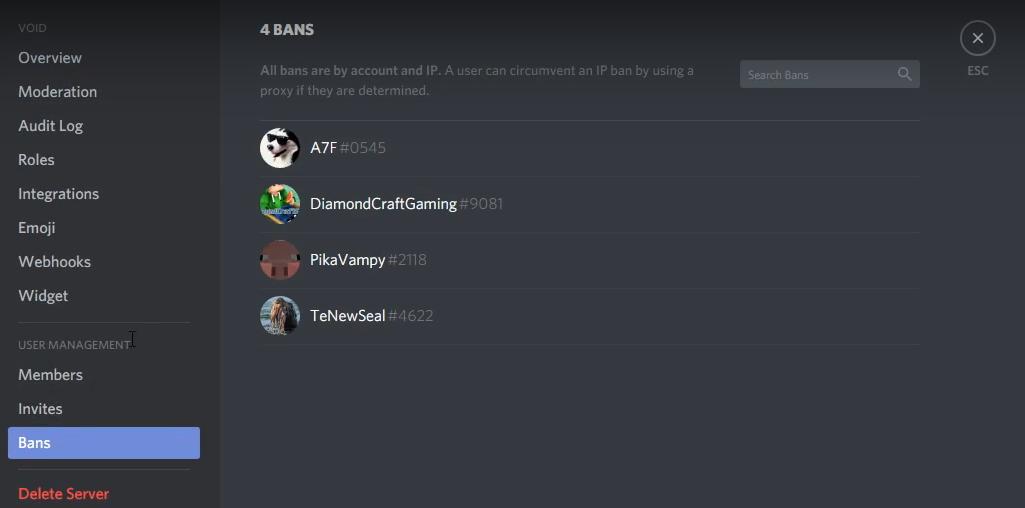 discord ban vs kick