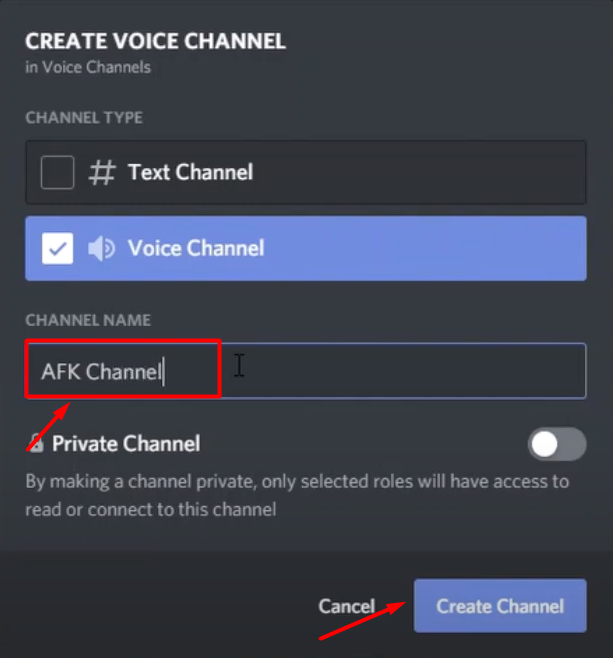 afk channel discord