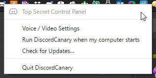 top secret control panel discord