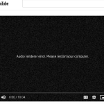 Fix YouTube Audio Renderer Error
