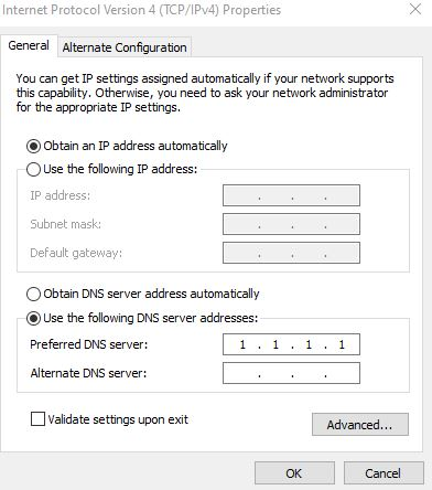 Server IP Address Could not be Found